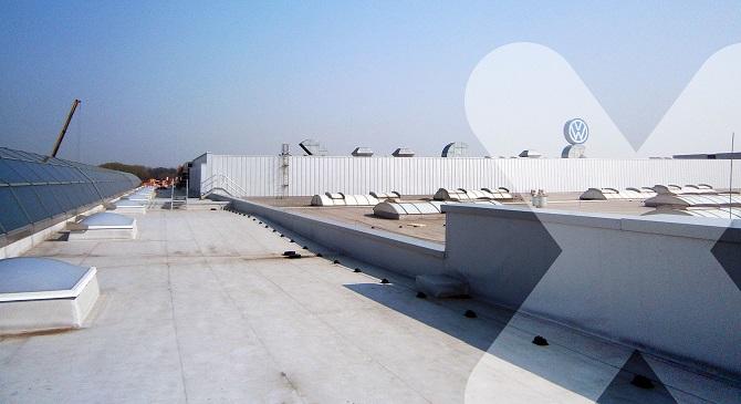 eliminacja słabych punktów stalowego dachu